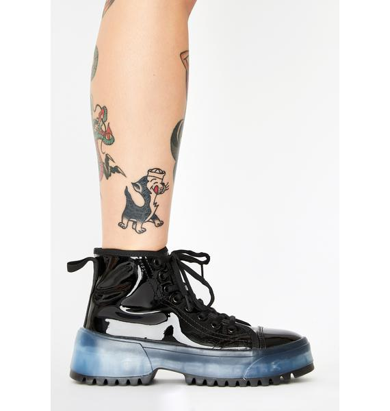 Transparent Soul Patent Sneakers