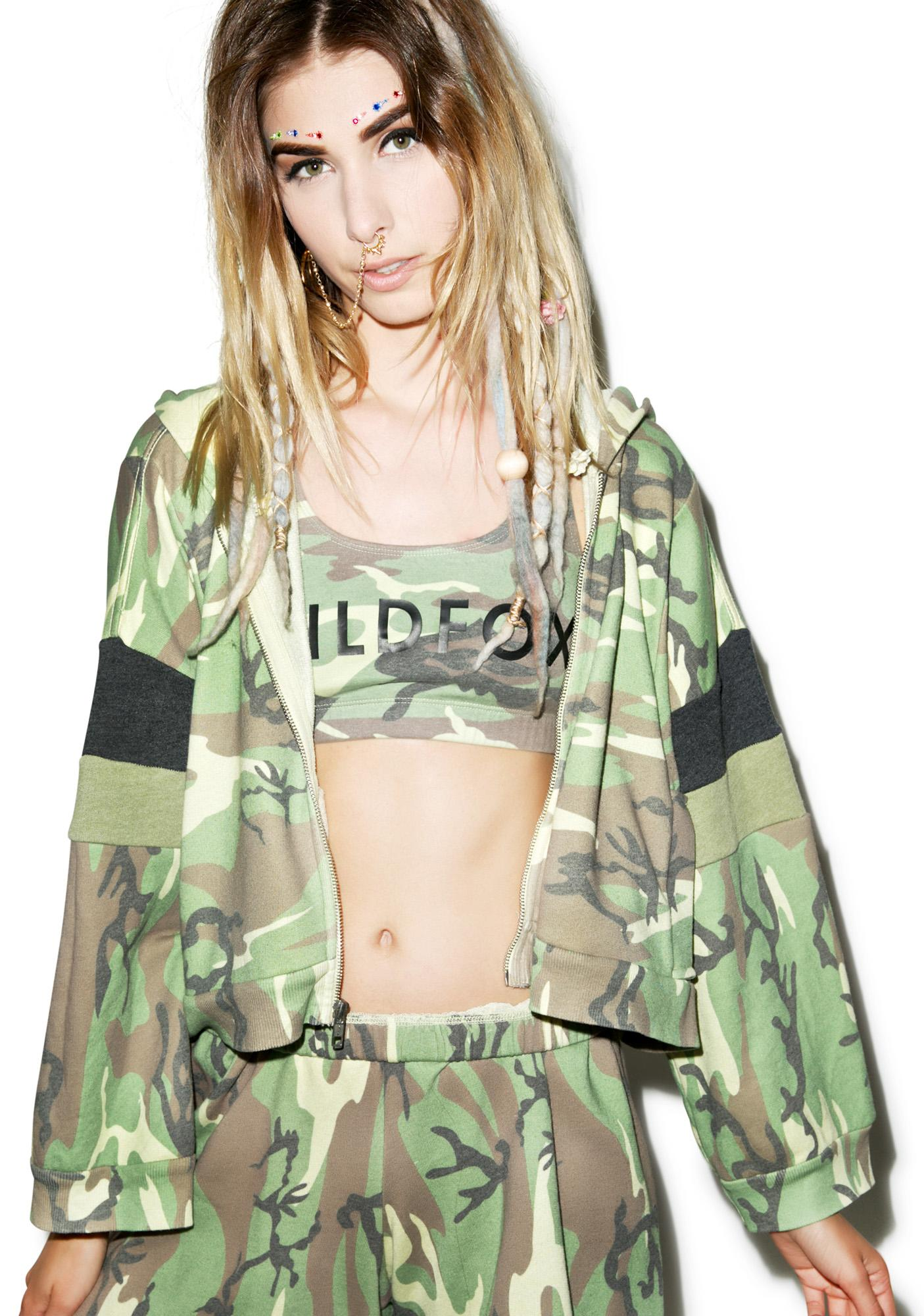 Wildfox Couture Classic Camo Draped Hoodie