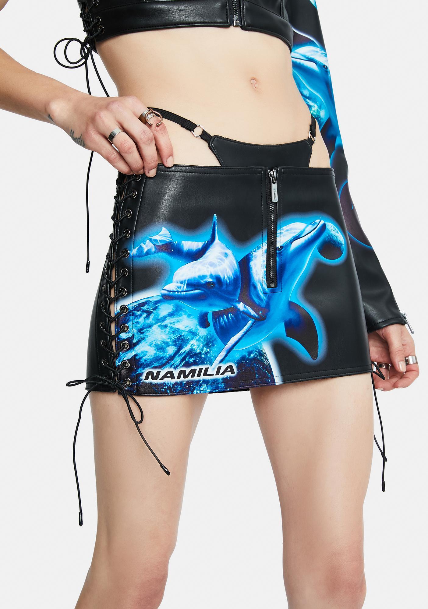 Namilia Aqualicious Mini Lace Up Skirt
