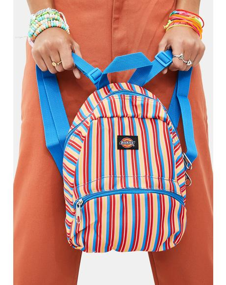 Multi Stripe Mini Backpack