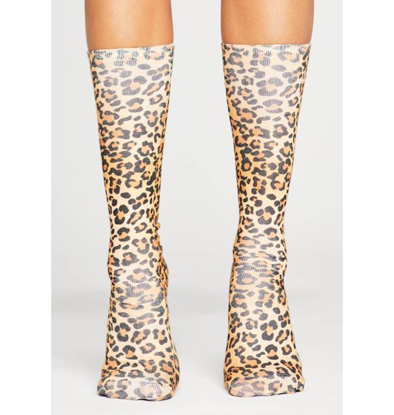 Strut It Leopard Socks