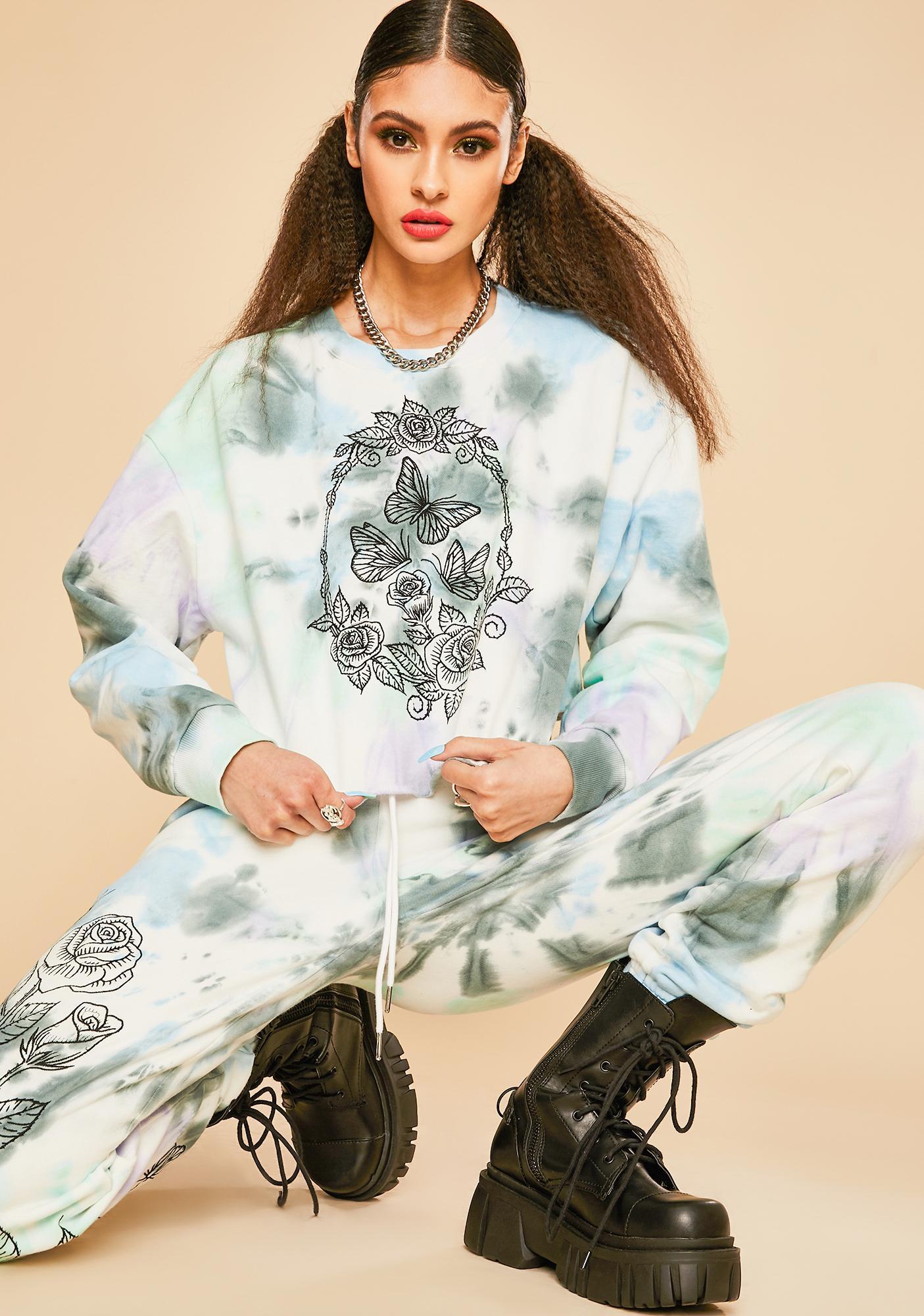 Current Mood Lust For Wonder Tie Dye Sweatshirt