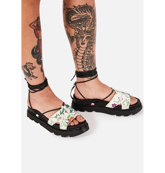 Lamoda Throwing Nightshade Lace Up Sandals