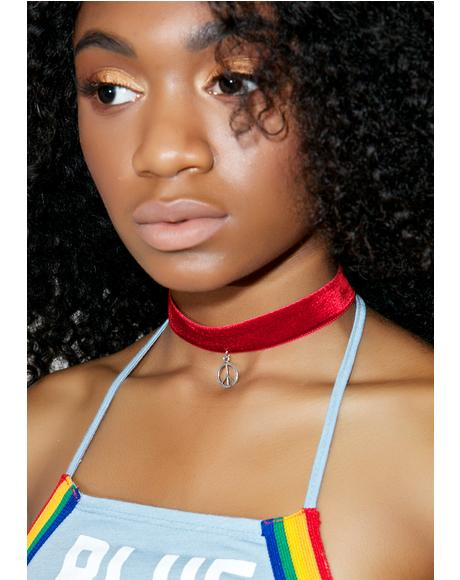 Red Velvet Peace Choker