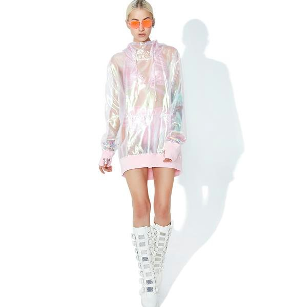 Club Exx Bubble Pop Iridescent Hoodie