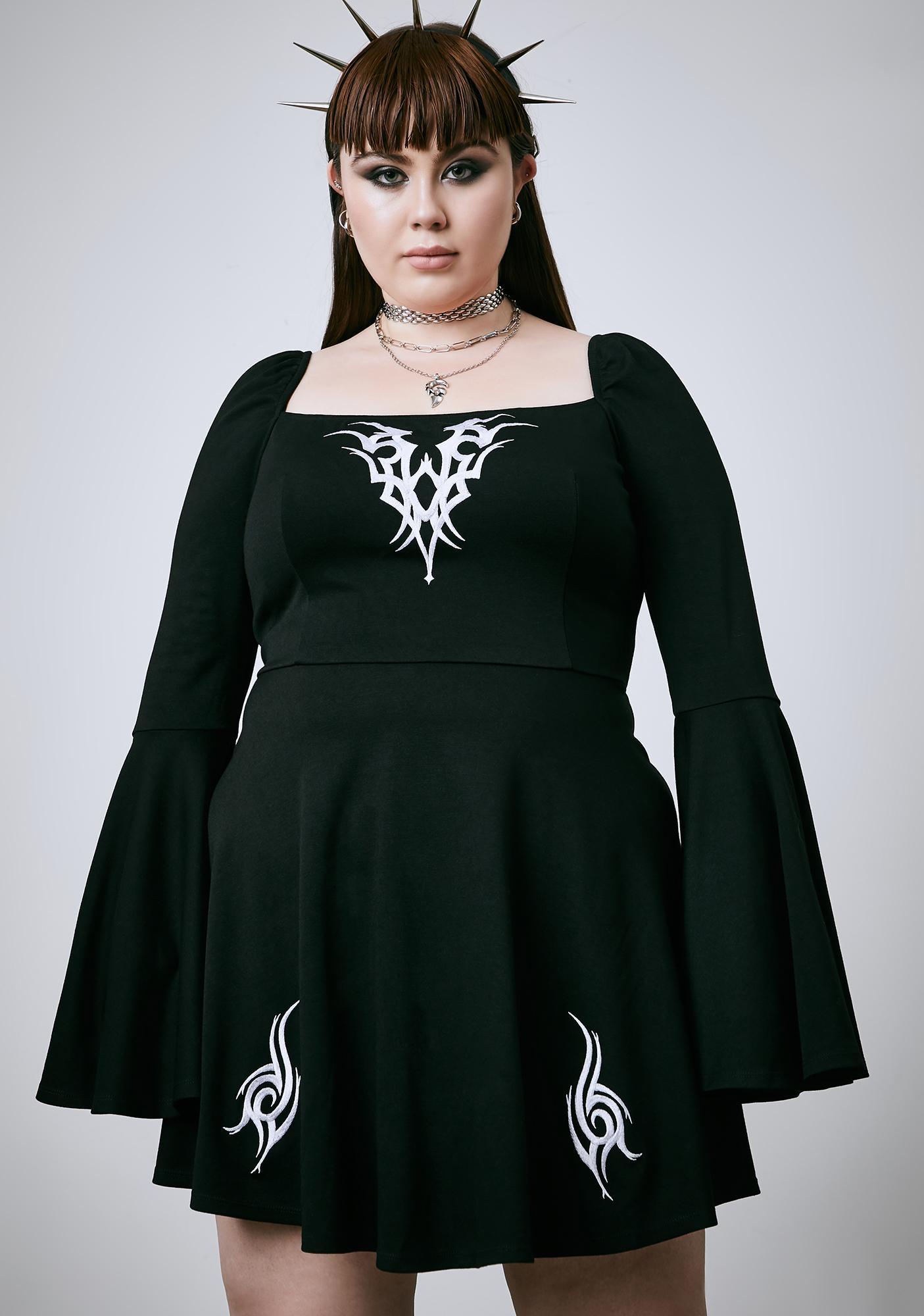 Current Mood Let's Remain Insane Babydoll Dress