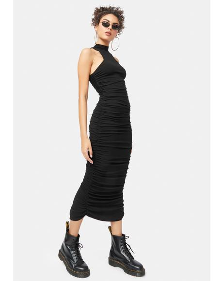 Uphold The Truth Ruched Maxi Dress