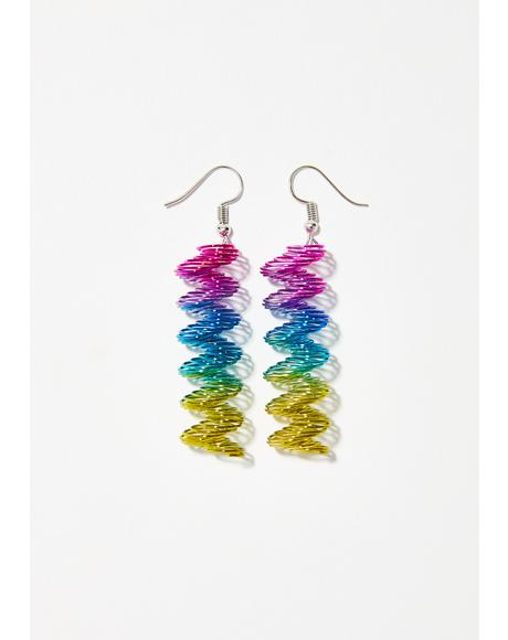 Magic Springs Slinky Earrings