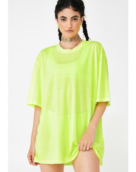 Electric Letz Hang Neon Mesh Tee