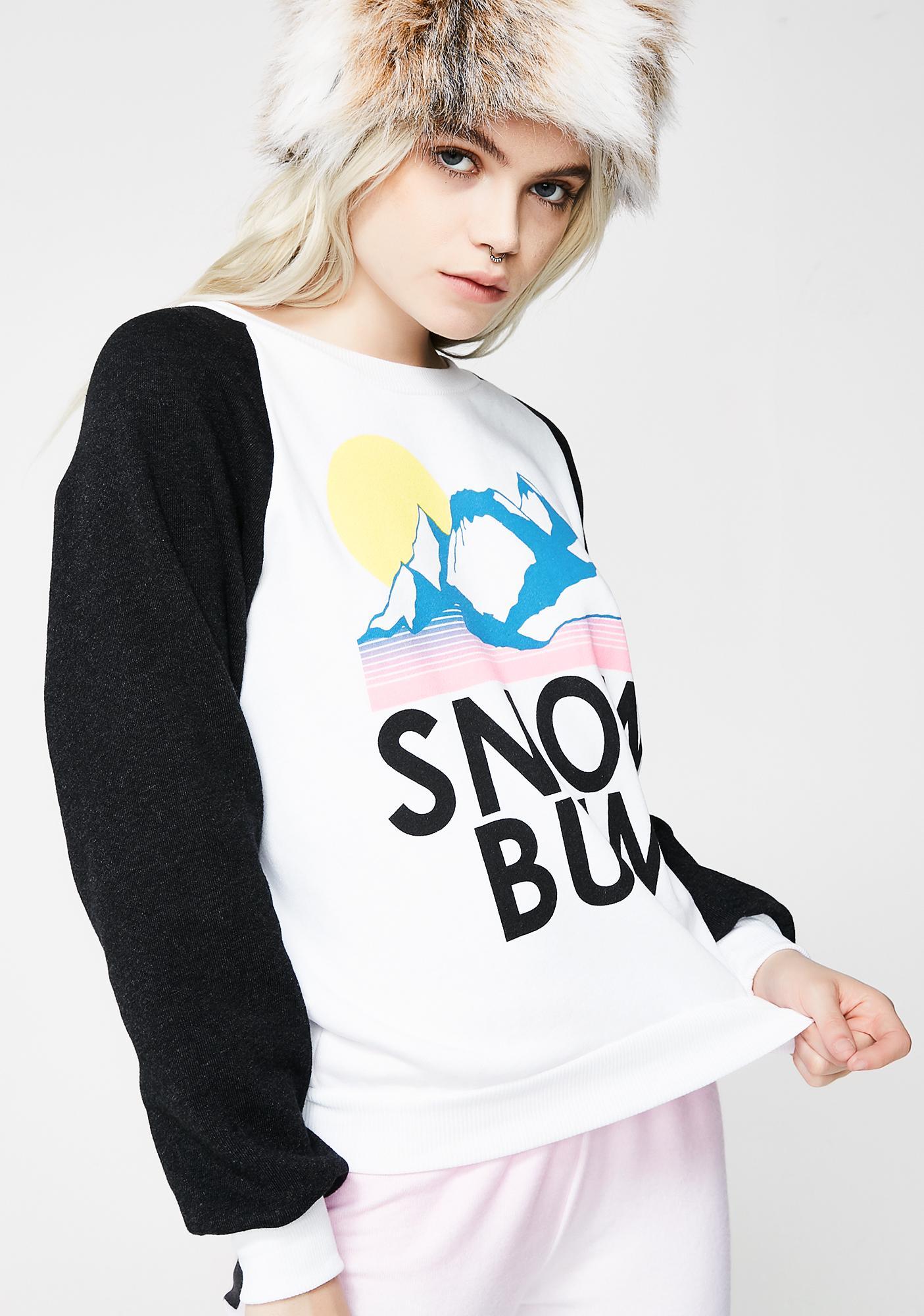 Wildfox Couture Snow Bum Junior Sweatshirt