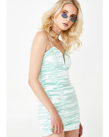 Stevie Metallic Mini Dress