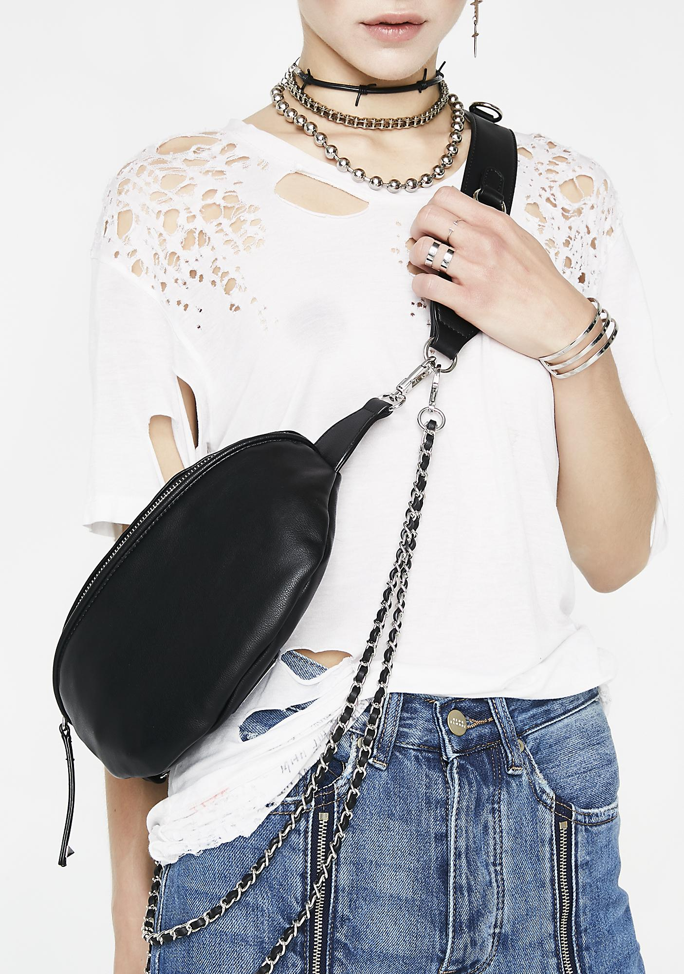 Taking Trips Chain Waist Bag by Fame Accessories