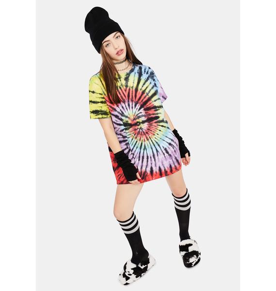 dELiA*s by Dolls Kill Cabin Fever Tie Dye Oversized Tee