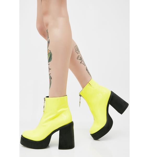 Current Mood Neon Franky Platform Boots