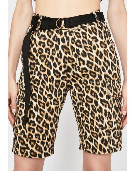 Pretty Psycho Leopard Shorts