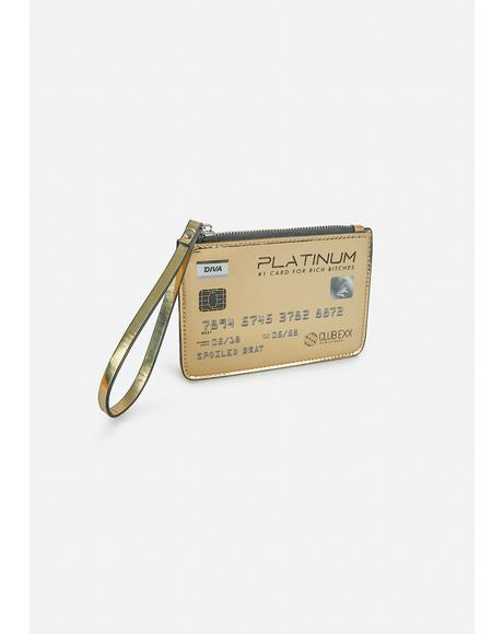 Gold Card Glamour Mini Clutch