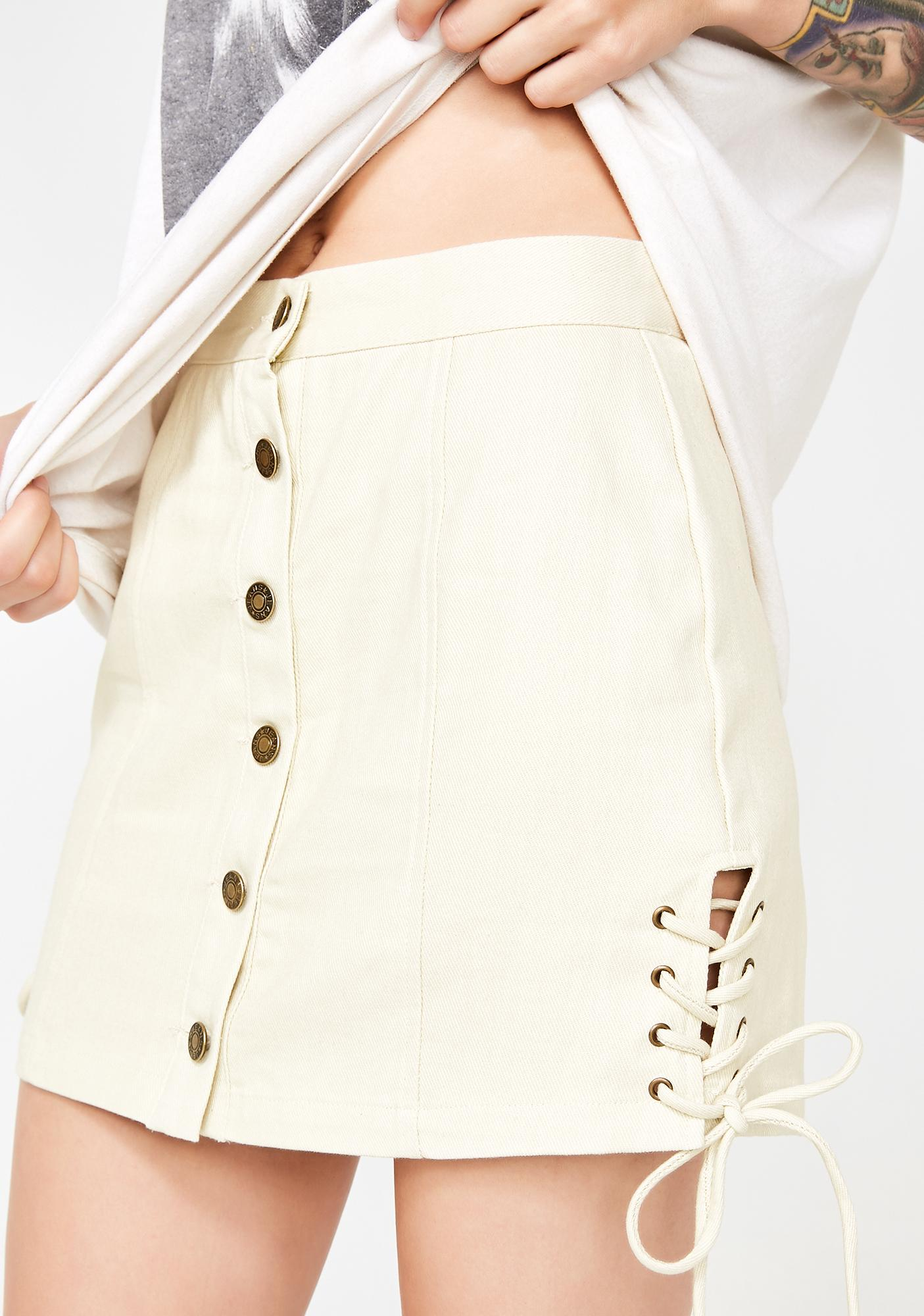 Classy Sass Lace-Up Mini Skirt