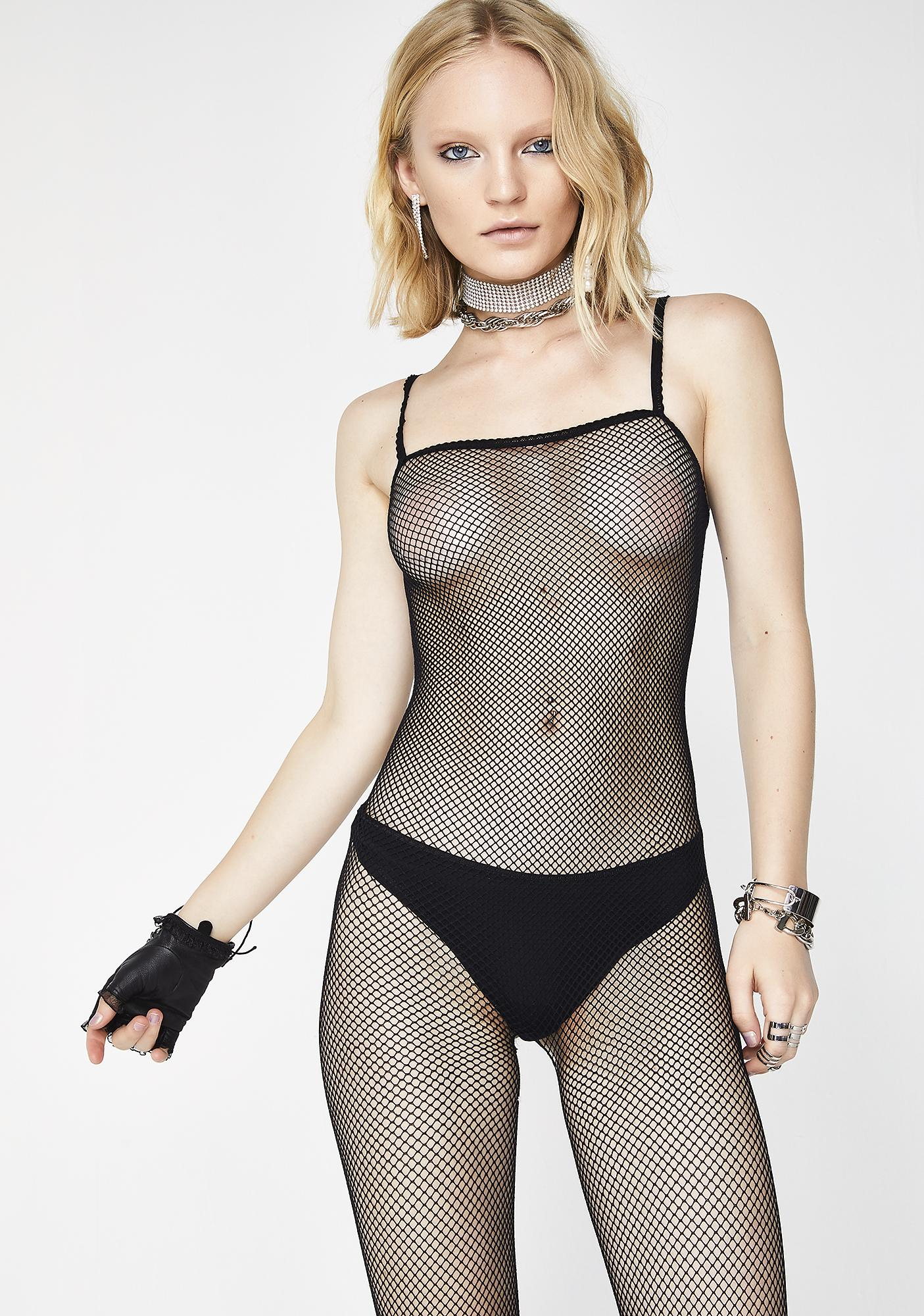 Heartless Words Fishnet Bodystocking
