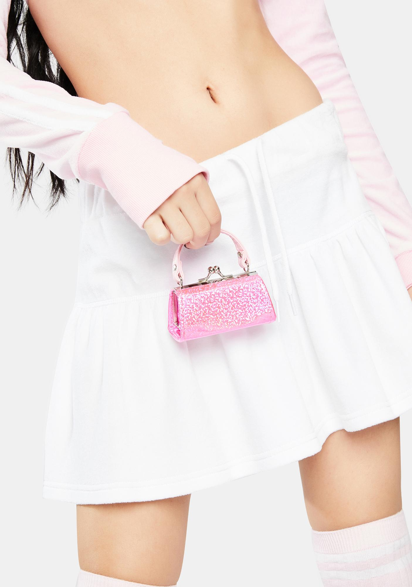 Sparkl Hot Pink Holographic Mini Purse