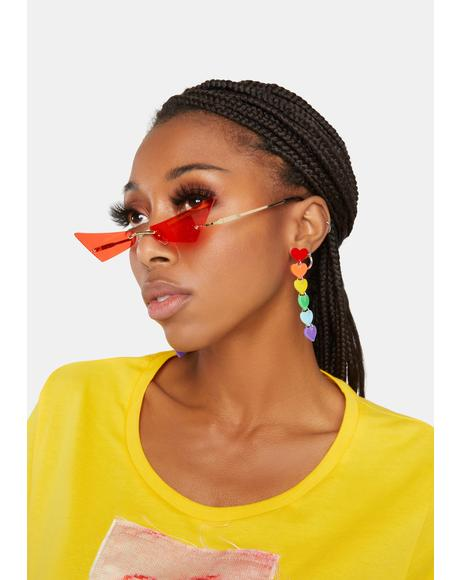 Hot Chatty Catty Cat Eye Sunglasses