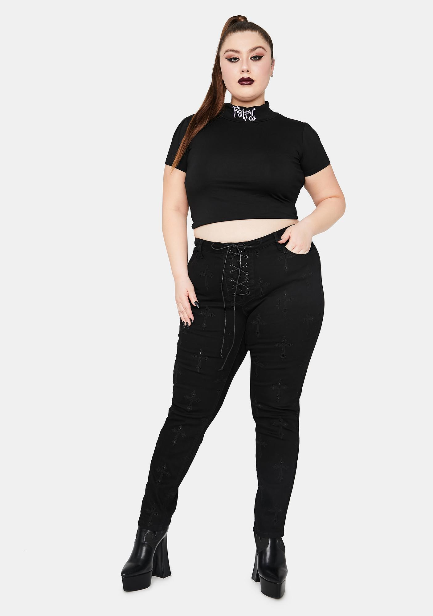 Widow True Daughter Of The Queen Embroidered Jeans