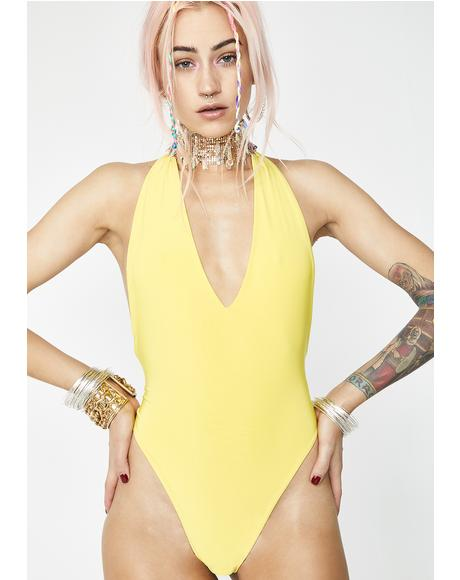 Honey Break The Ice Halter Bodysuit