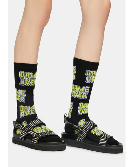 Game Over Crew Socks