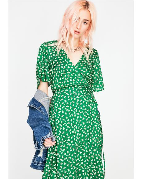 Leaf Me Alone Floral Dress