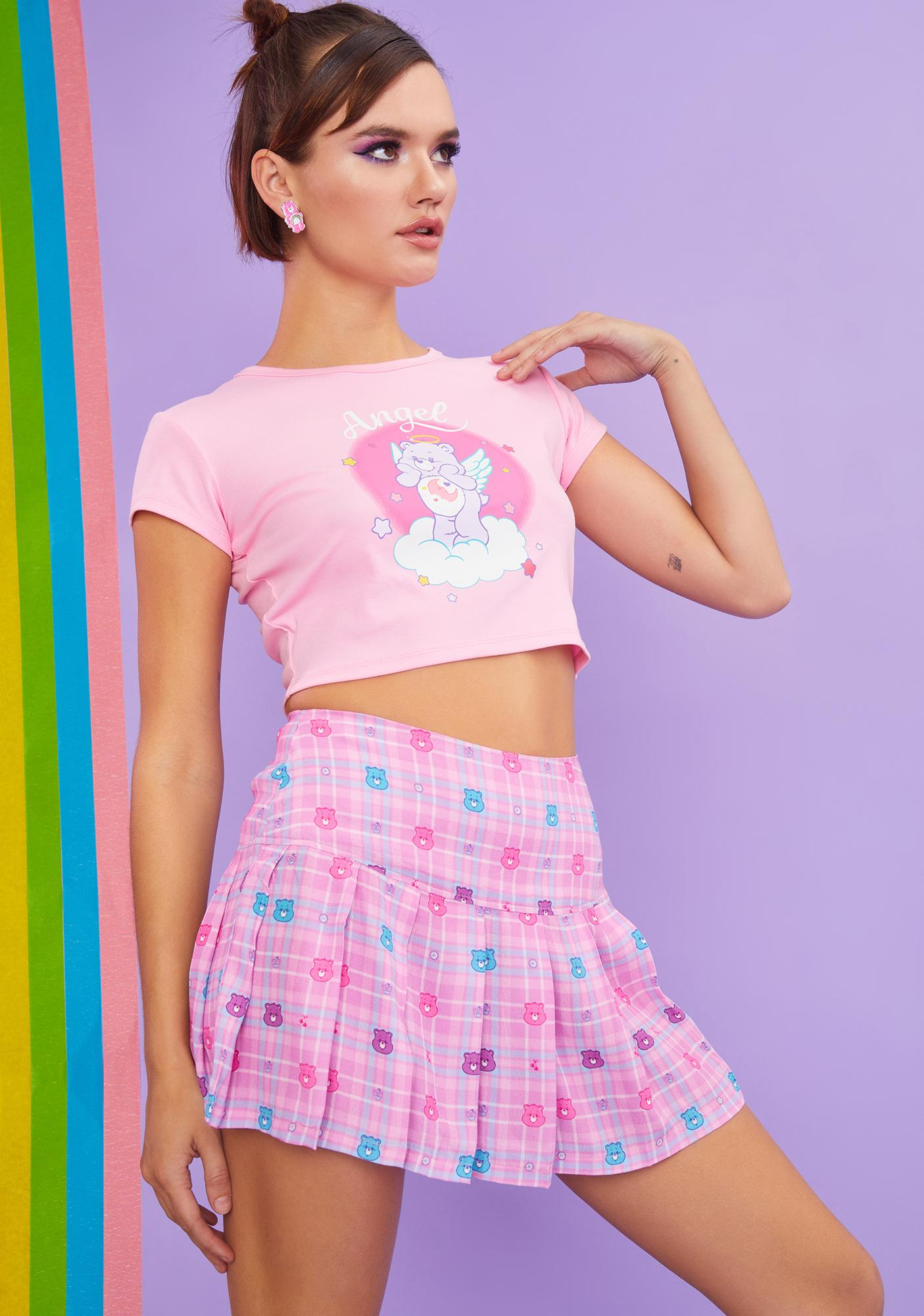 Dolls Kill x Care Bears Harmony In My Heart Plaid Mini Skirt