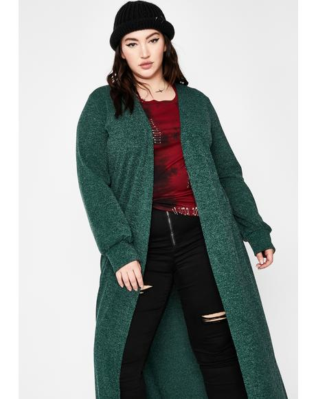Lush Wrapped In Bliss Knit Duster