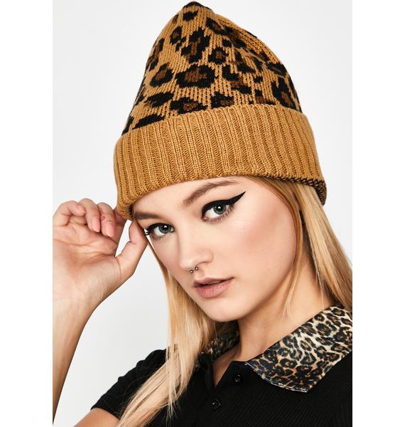 Sienna Fierce Winter Leopard Beanie