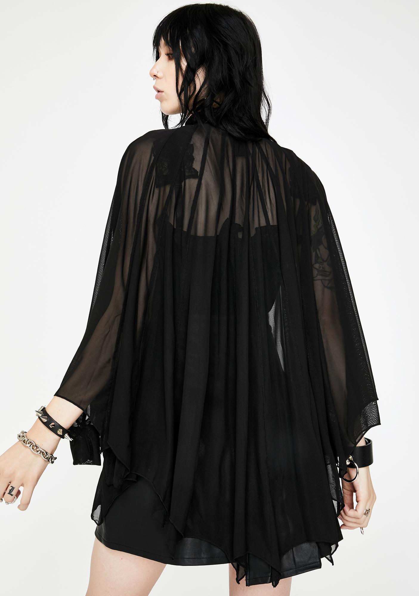 Necessary Evil Cybele Bat Wing Dress