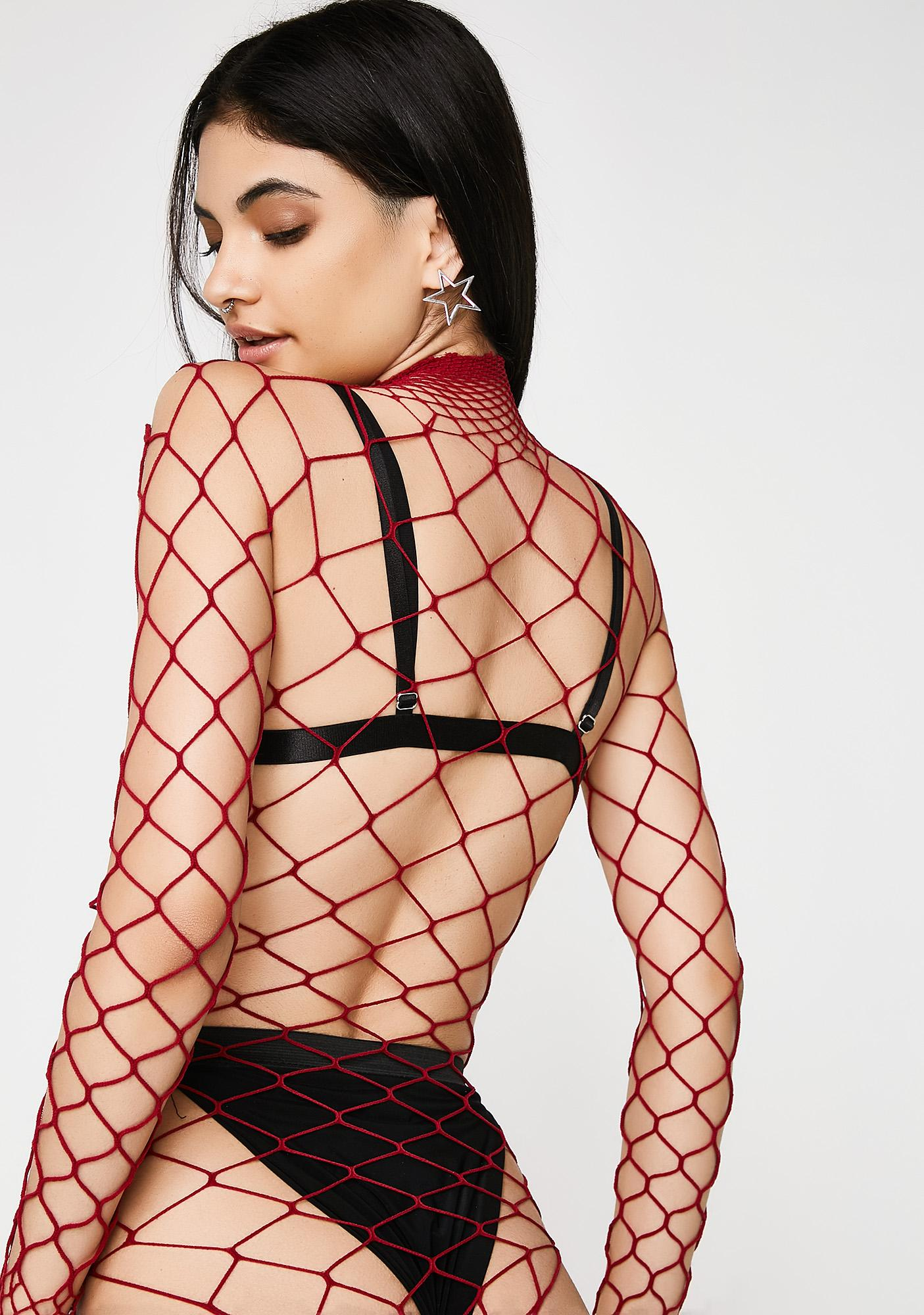 Alarm The Damned Fishnet Bodysuit