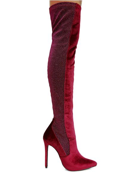 Goddess Among Us Thigh-High Boots