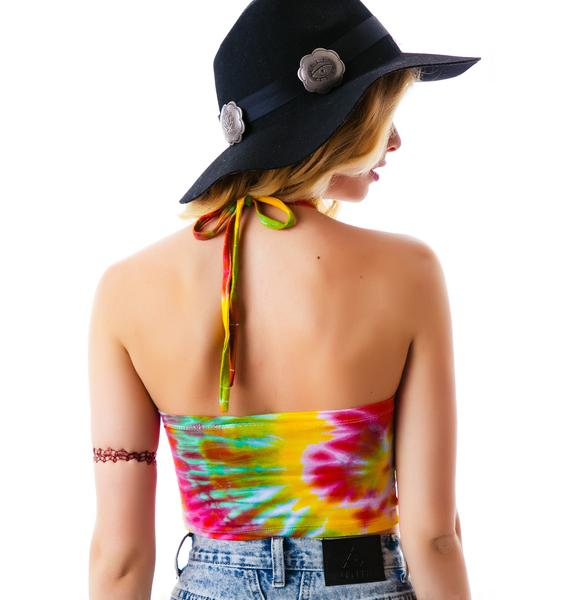 O Mighty Give Me Head Tie Dye Halter