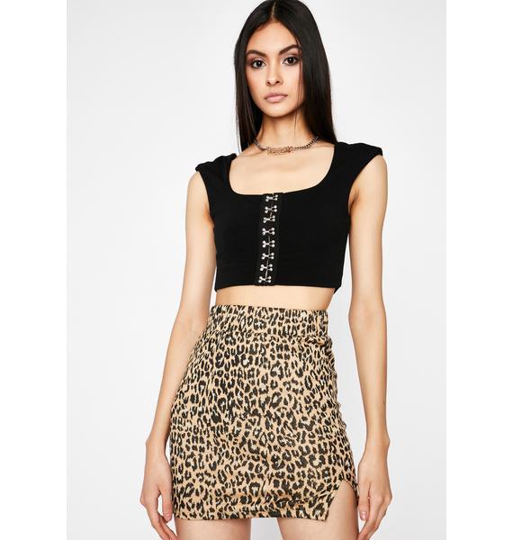 Mixed Felines Mini Skirt