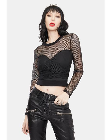 Raise Your Glass Fishnet Top