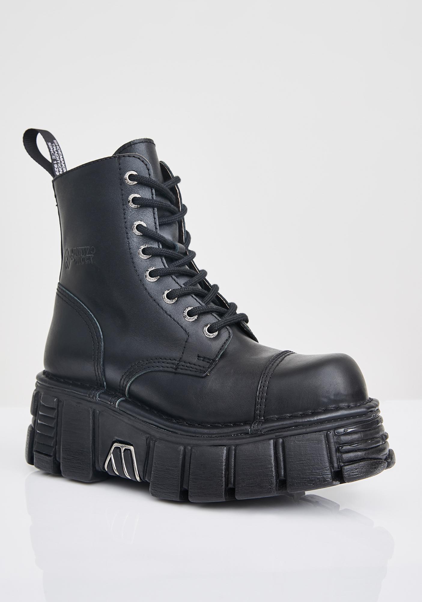 New Rock Knife Combat Boots