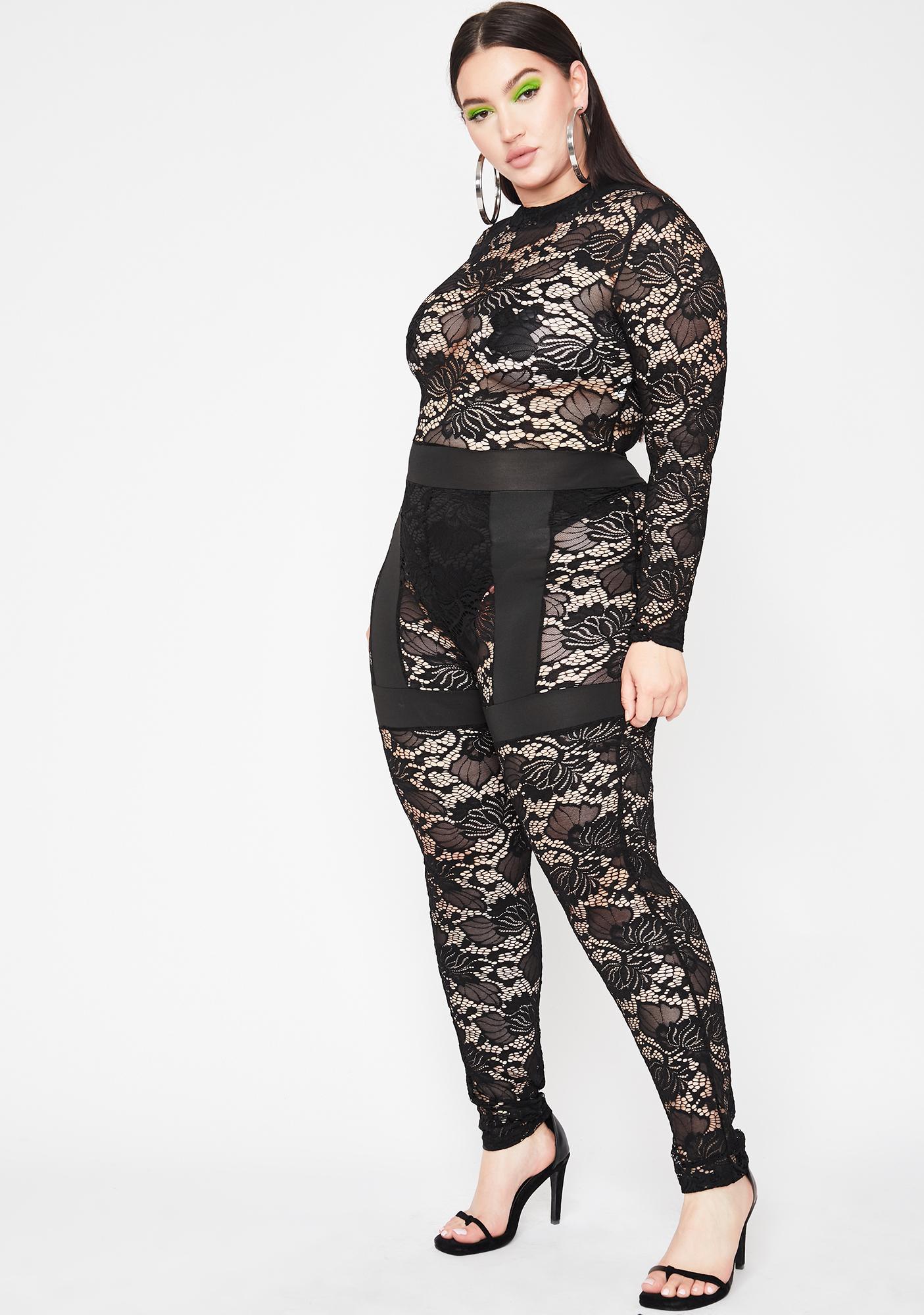 Got Fifth Avenue Fever Lace Jumpsuit