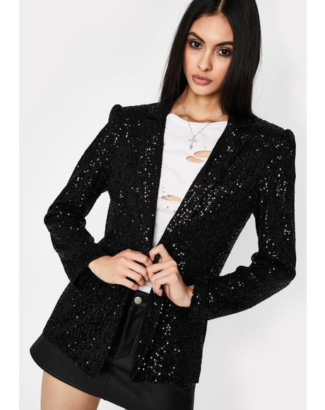 VIP Entrance Sequin Blazer
