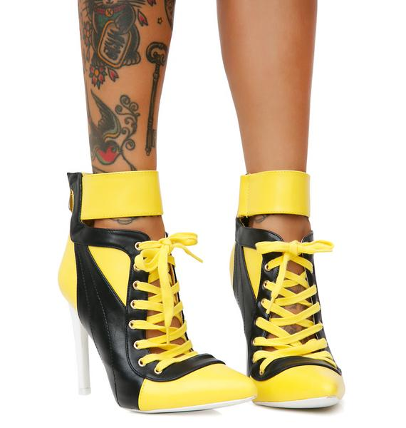 Most Valuable Player Lace-Up Heels
