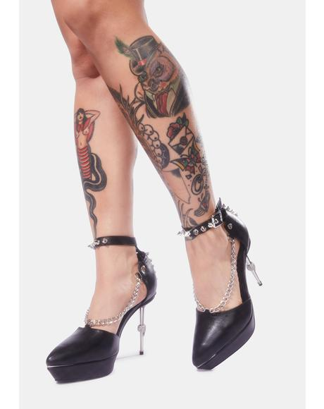 Dominatrix Spiked Slingback Heels