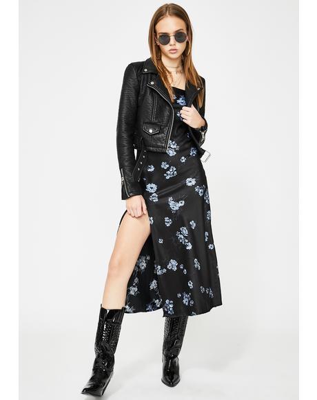 Floral Black Quinty Maxi Dress