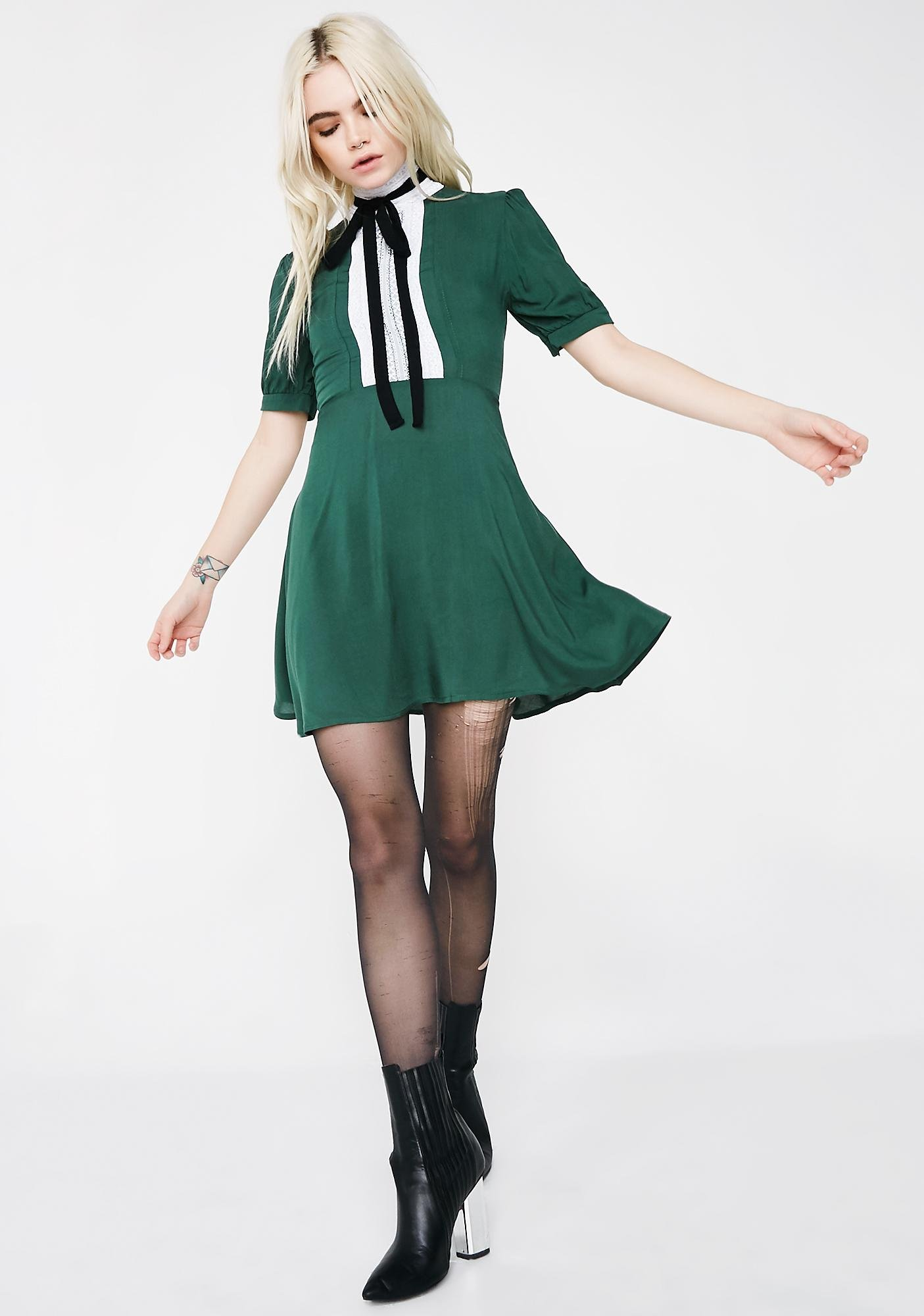 Valfré Hunter Green Jolie Dress