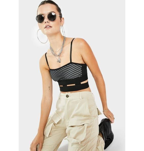 Dream Bandits Australia Grey Y2K Crop Top