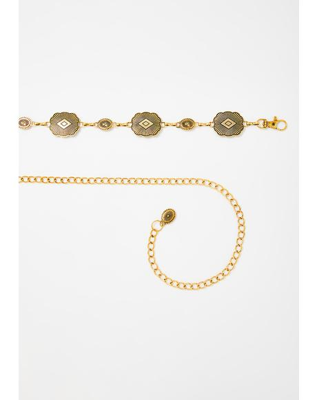 Gold Brutal Bunch Hip Chain