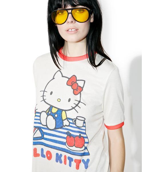 Japan L.A. X Sanrio Hello Kitty Picnic Ringer Tee