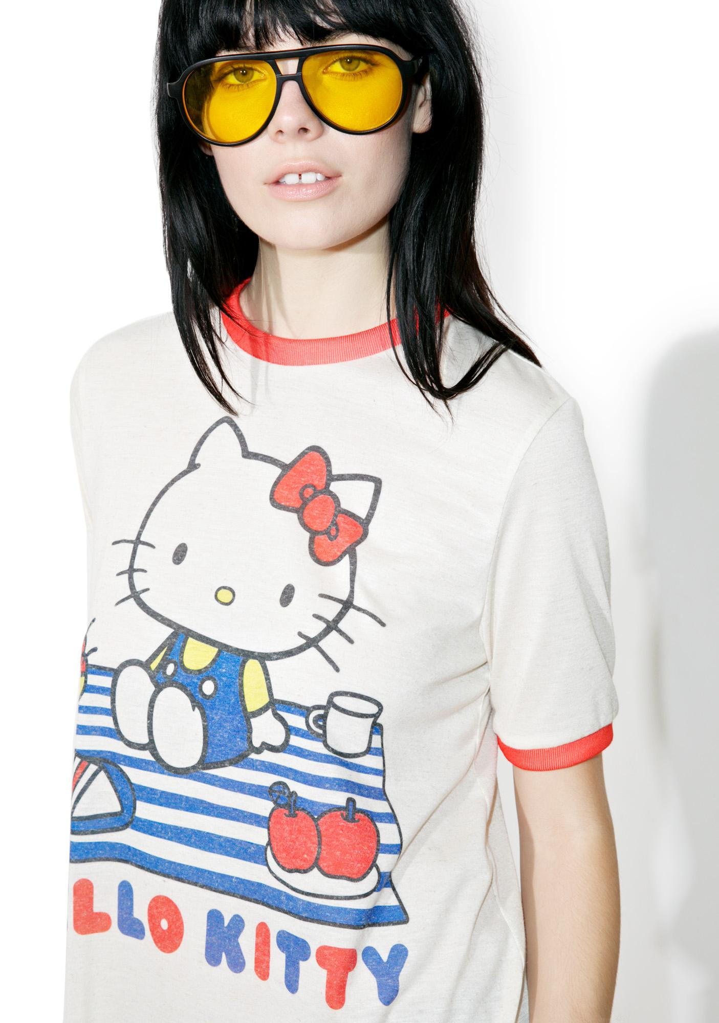 Japan L.A. X Sanrio Hello Kitty Picnic Ringer Tee
