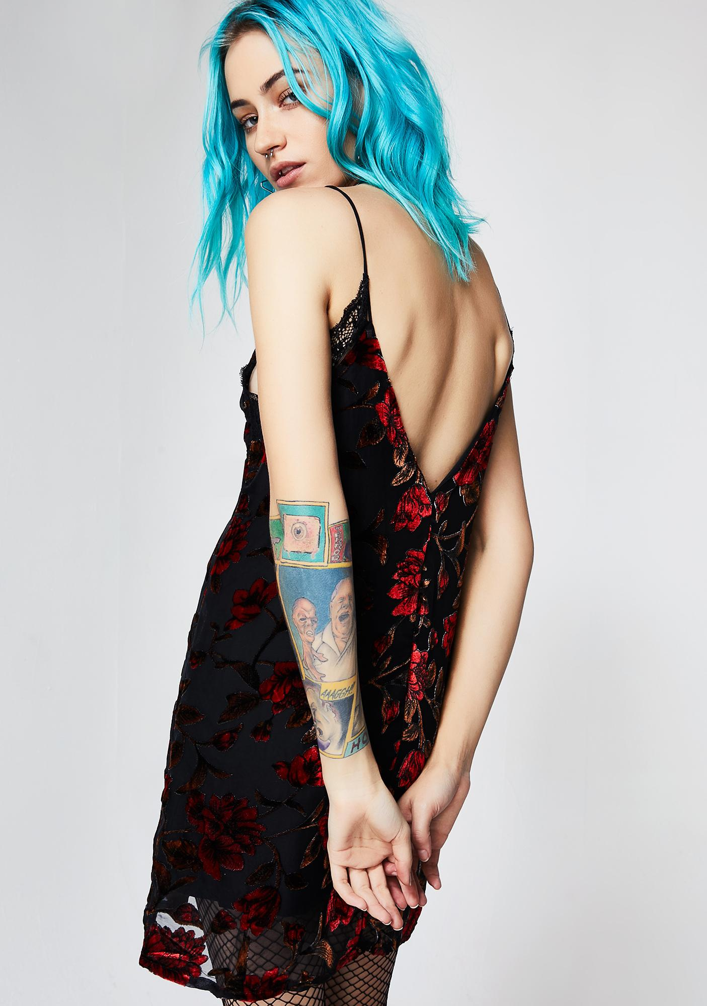 Primrose Path Velvet Slip Dress