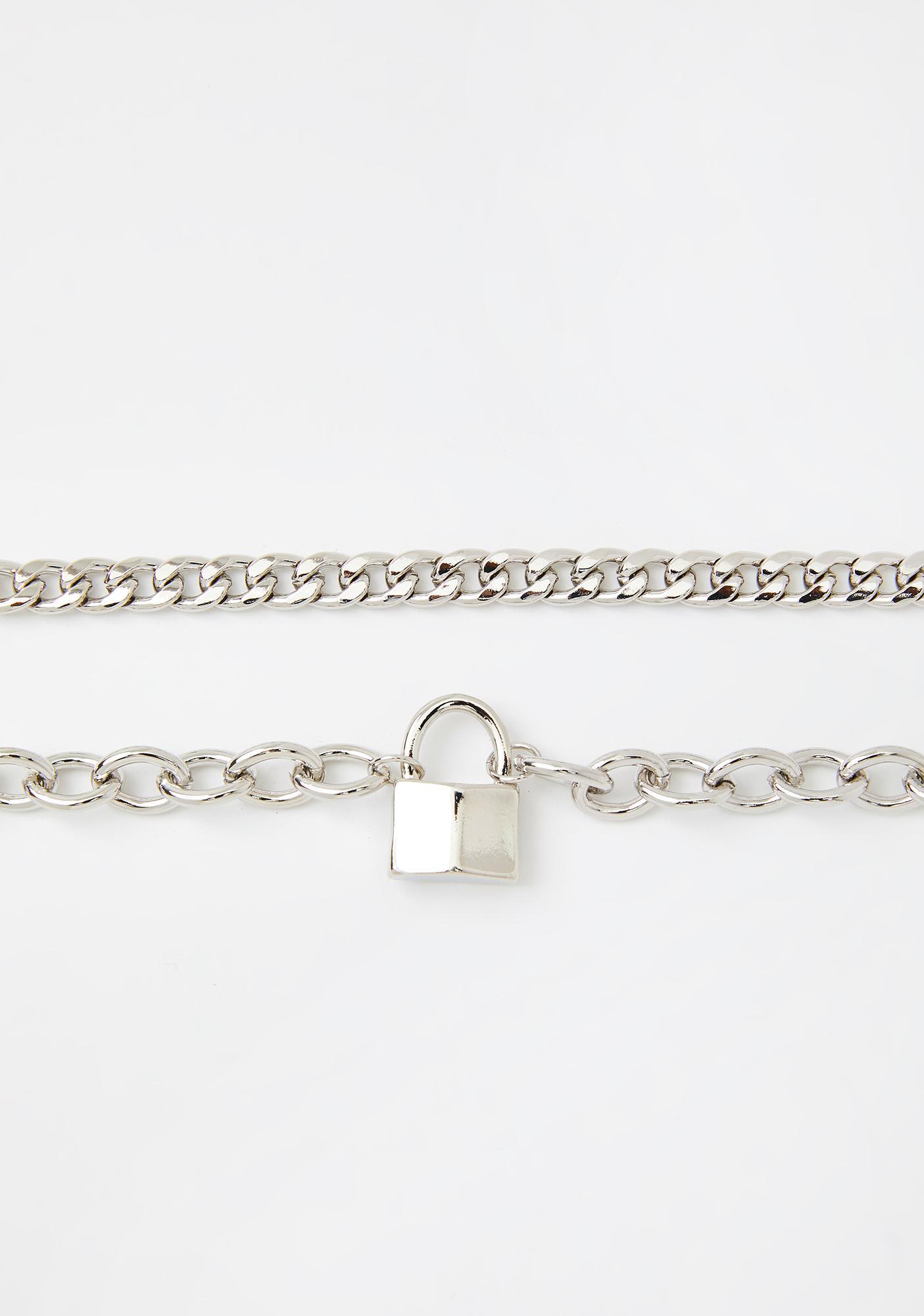 Subtle Intentions Lock Necklace